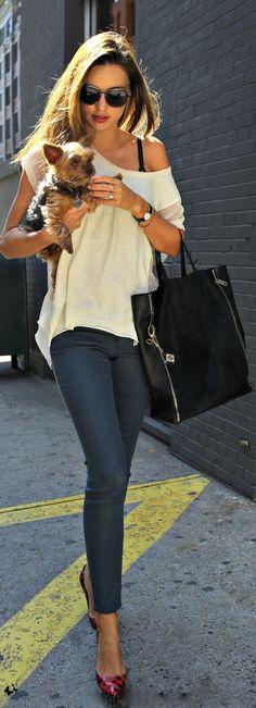 Miranda Kerr NYC Classic Street Style