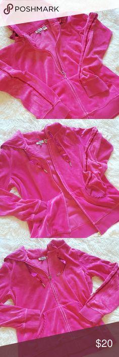 IZOD PINK JACKET Super cute izod pink velour and satin jacket.  Jacket in great condition. Izod Jackets & Coats