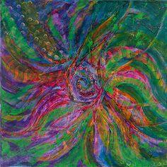 Canvas or Paper Art Print Modern Spacescape Vortex black by JDArts, $75.00