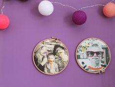 Cappello A Bombetta: DIY Foto Ricamate / DIY Stitched Photos