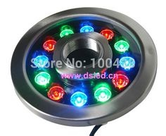 55.00$  Watch here - http://alir70.worldwells.pw/go.php?t=2053017871 - Stainless steel,CE,P68,high power 12W LED RGB pool light,LED RGB fountain light,DS-10-38-12W-RGB,24V DC,2-Year warranty 55.00$