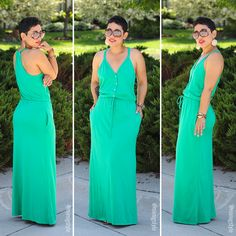 Old Navy Kelly Green Maxi Dress - Mimi G Style