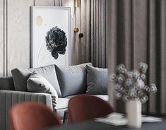 Architecture Visualization, Architecture Design, Gold Interior, Interior Design Studio, Clarity, Couch, Living Room, Pillows, Bed