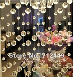 $1.47 Clear transparent round Crystal Garland Strand , 25meters/lot Crystal Garland, home/wedding/party decoration, free shipping CG02