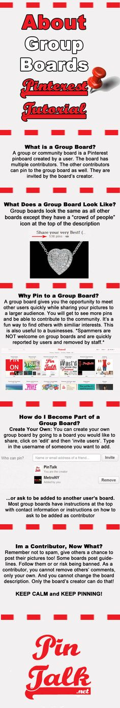 Group Boards #Pinterest Tutorials #Infographic  Pinned from www.pinterestnews.org  9/9/2013