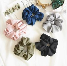 Mother & Kids Trend Mark Trendy Lady Hair Scrunchie Ring Elastic Candy Pure Color Dance Scrunchie Women Girls Hair Accessories Hair Accessories