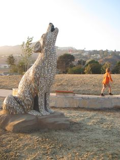 Large Animal Mosaic Sculpture  done by my friend robin--she is the best....