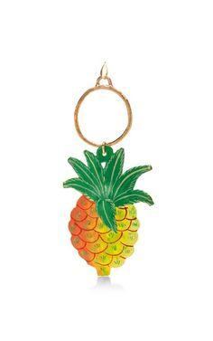 Pineapple Pendant Earrings by Stella Jean Now Available on Moda Operandi