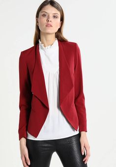 KIOMI Blazer - dark red for with free delivery at Zalando Fabric Material, Dark Red, Showroom, Chic, Women's Blazers, Pattern, How To Wear, Jackets, Fashion