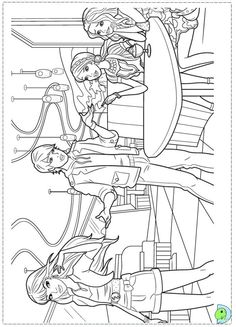 Barbie Fashion Coloring Page