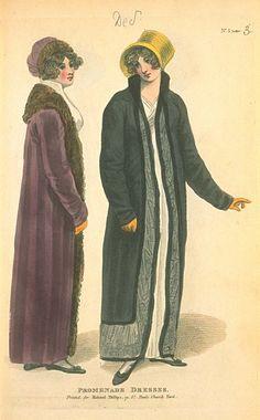 Promenade Dresses, December 1804, Fashions of London & Paris