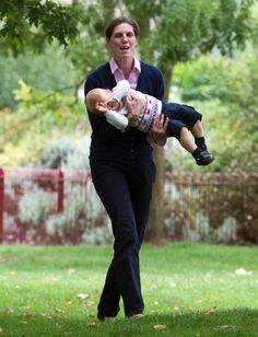 Prince George with his nanny