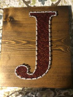 Letter/Initial string art - Order from KiwiStrings on Etsy ( www.KiwiStrings.etsy.com )