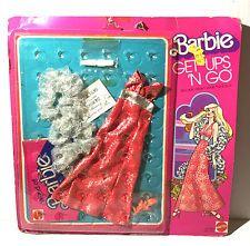 BARBIE GET UPS 'N GO Brocade Showbiz Fashion Outfit Dress #9740, Vtg Mattel 1976