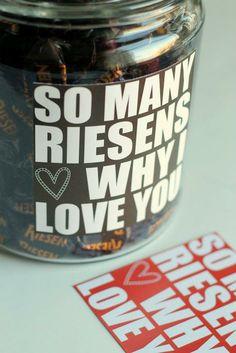 Valentine's Riesen Jar with printable