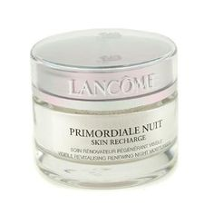 Lancome Night Care, 50ml/1.7oz Primordiale Skin Recharge Visible Smoothing Renewing Night Moisturiser for Women -  Unctuous creamy texture infused with a relaxing fragrance,Loaded with vitamin A to stimulate cell regeneration,Effectively hydrates  revitalizes skin,Combats appearance of fine lines  wrinkles,Biotin, a powerful co-enzyme, energizes skin for optimal functioning, Buy Lancome Night...
