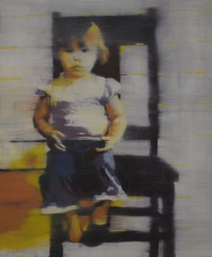 """mark horst """"girl with one shoe no. 1"""" oil on canvas. 20"""" x 24"""""""