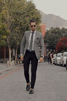 Fancy Friday in Grey with a blue pop Men Style Tips 2d47fc710