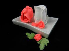 Silikonformen - 3D Seifengießform /Kerzengießform Rose - ein Designerstück von luflom-design bei DaWanda