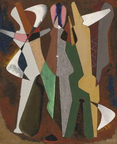 Promenade, 1916 (oil on canvas) by Man Ray, an American modernist who spent most of his career in Paris, France. He was a significant contributor to the Dada and Surrealist movements.