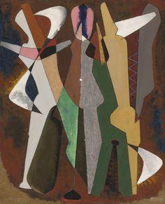 Man Ray - Promenade, 1916, oil on canvas