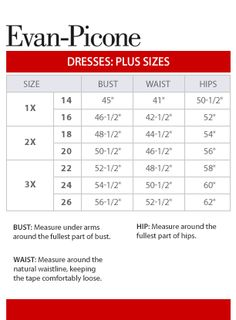 Eyeshadow Clothing Size Chart