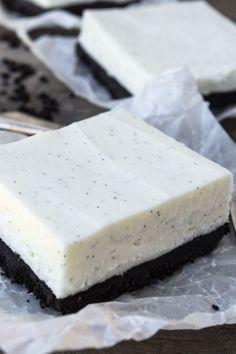 No Bake Vanilla Bean Cheesecake Bars