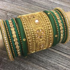 @NGT6020 Bridal Bangles, Gold Bangles, Bridal Jewelry, Bridal Necklace, Necklace Set, Indian Jewelry Sets, Indian Wedding Jewelry, Indian Bangles, Chuda Bangles