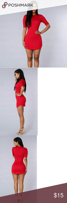 Like New Fashion Nova Red Tunic/Dress Size Xsmall Smoking hot Fashion Nova tunic/dress! You'll be a jaw dropping lady in red! Cute cap sleeve design. Extremely well rated! Size Xsmall. Let me know if you have any questions! Ships ASAP! Smoke free and pet free home! Fashion Nova Dresses
