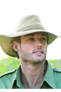 Mens Safari Supplex Hat - Sun Protection Brimmed Outdoor Hat 93b2494a936