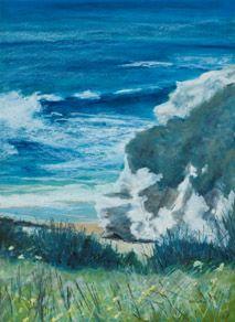 "Laguna Creek #15,"" oil pastel, by artist Susan W. Trimingham"
