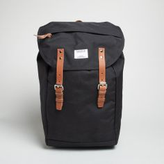 Hans Backpack in Black Cordura by Sandqvist - $229