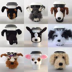 Dog Mug Cozies/Crochet Cozy/Koozie Cozy  https://www.etsy.com/shop/HookedbyAngel?ref=hdr_shop_menu
