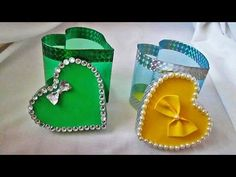 Подарочная упаковка из пластиковой бутылки ко дню святого Валентина - YouTube