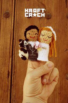 02 ¡vamos de boda! ¡miau! #cat #wedding #fingerpuppets #crochet