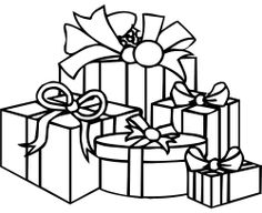 christmas - presents - coloring pages | downloads and sketches ... - Coloring Pages Christmas Presents