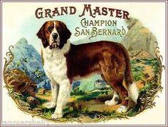 dog vintage cigar box label