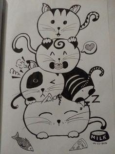 Cat universe doodle