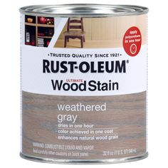 Minwax Classic Gray 271 Wood Stain For Fireplace