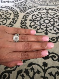 SNS nails n17 Light pink with a small touch of sparkle.