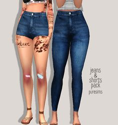 jeans & shorts pack more jeans because why not !!! includes 5 shorts + 5…