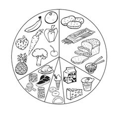 list healthy food coloring page for kids kids coloring pages - Food Coloring Pages