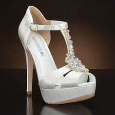 DAVID TUTERA JEWEL Wedding Shoes and JEWEL Dyeable Bridal Shoes WHITE, IVORY: