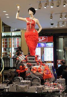 Henri Bendel Holiday 2012      A mannequin raises her glass.    Source: Courtesy of Henri Bendel