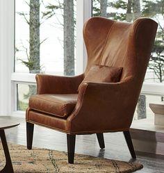 Clinton Modern Wingback Chair | Rejuvenation