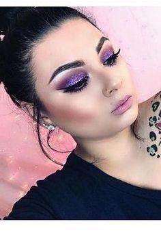 Purple to the max! Full Face Makeup, Love Makeup, Diy Makeup, Makeup Inspo, Makeup Inspiration, Beauty Makeup, Makeup Looks, Gorgeous Makeup, Makeup Geek