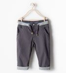 TROUSERS WITH WAISTBAND - Trousers - Baby boy (3 months - 3 years) - KIDS | ZARA United States