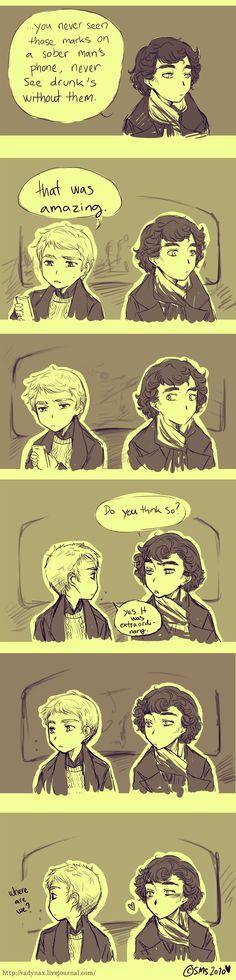 Watson and Sherlock - comic