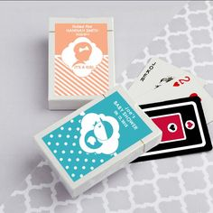 Simply Stylish Collection Personalized Playing Card Favors