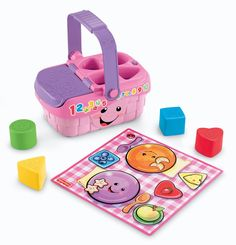 Fisher-Price Laugh and Learn Sweet Sounds Picnic Parts shapes red heart berry